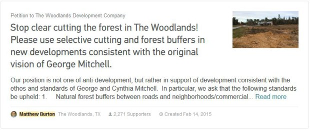Matthew Burton Stop The Clear Cutting Petition