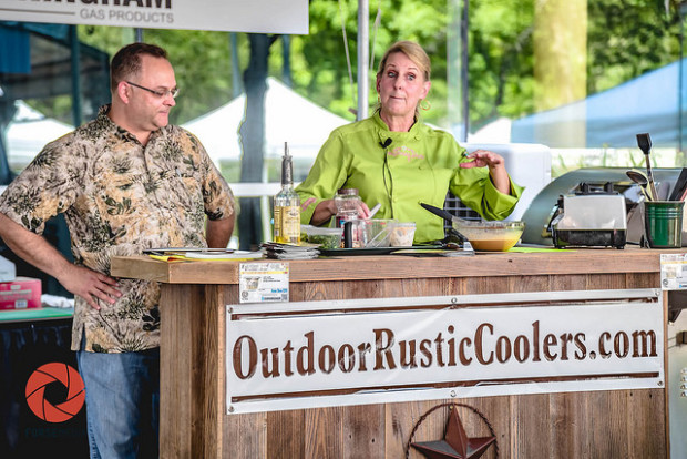 Cunningham Gas Products Outdoor Show and Outdoor Rustic Coolers