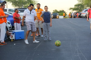 Soccer games in Parking Lots Photo Credit Giovanni Paz
