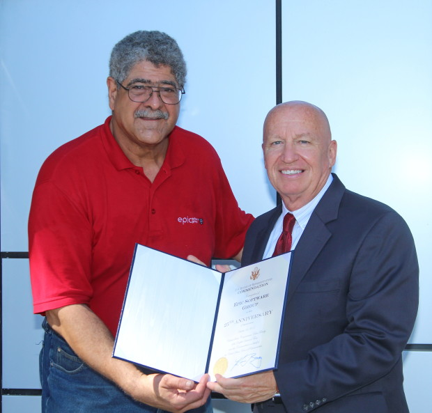 Vic Cherubini and Congressman Kevin Brady - Epic Software
