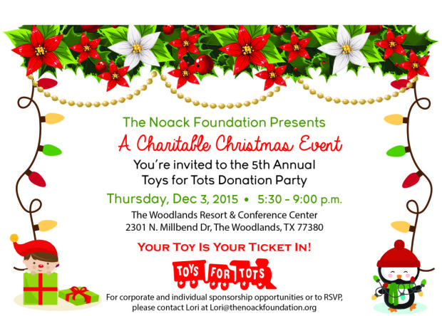 Toys For Tots Foundation : The noack foundation to host th annual toys for tots