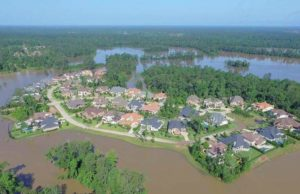 Flooding at Creekside - Timmaron in The Woodlands