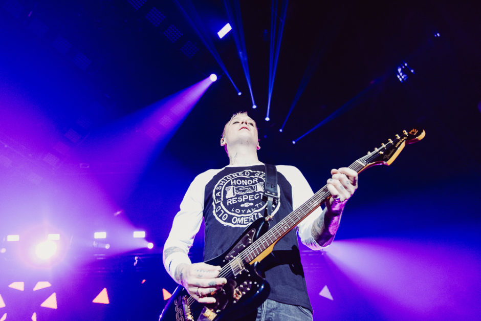 Matt Skiba Guitar for Blink 182 - Photo Credit: Roshan Moayed