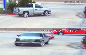Suspect vehicle of auto theft at Rayford and I-45