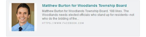 Matthew Burton for The Woodlands Township Board of Directors