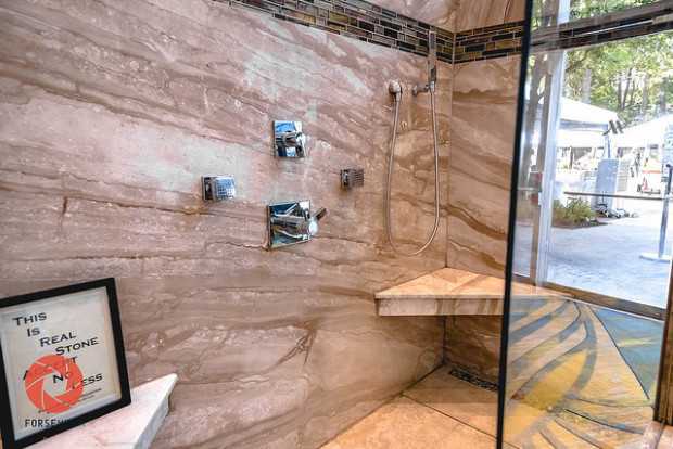 Stonehenge Showers, this is real stone accept no less Photo: Forse Media for The Woodlands Journal