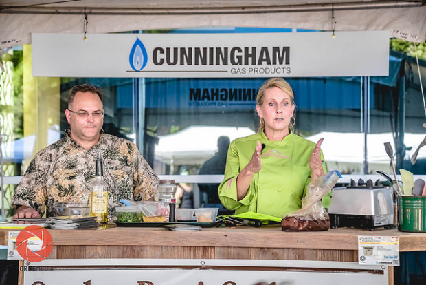 Cunningham Gas Products Outdoor Cooking Stage