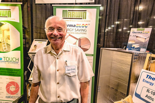 Jean Pierre of Marwin Company and inventor of the One Touch Electric Attic Stairway. Photo: Forse Media for The Woodlands Journal
