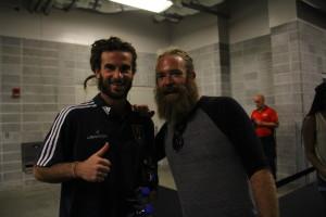 Kyle Beckerman and Derek Sinquefield at Houston Dynamo Game