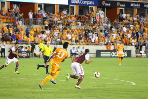 Lionel Miranda making a play on the ball.