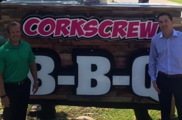Corkscrew BBQ New Location Sign