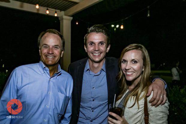 Steve Toth, Matthew Burton and Erin Burton