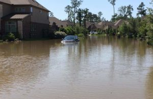 Flooding in Creekside in The Woodlands