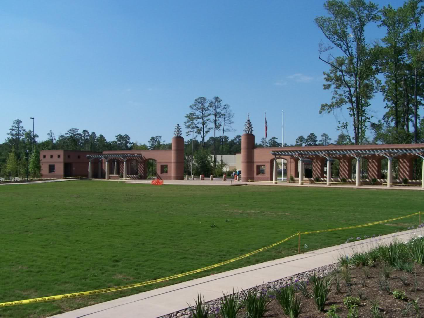 Town green park turf upgrade in progress the woodlands for Park towne