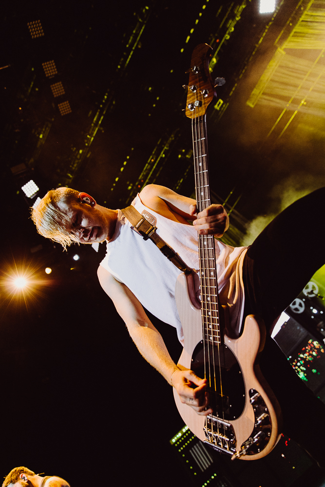 Joshua Woodard Bass Guitar for A Day to Remember - Photo Credit: Roshan Moayed