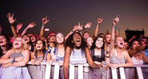 Crowd for Young The Giant at Austin City Limits. Photo credit: Cambria Harkey